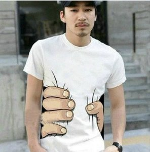 Camiseta Masculina Mão Grande