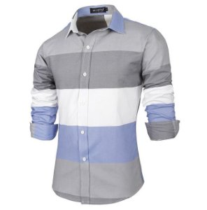 Camisa Masculina Casual Striped