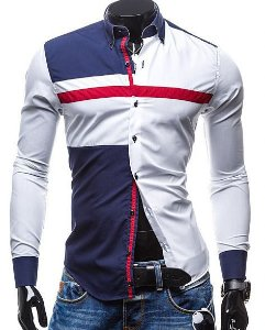 Camisa Masculina Casual Social Patchwork