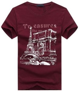 Camiseta Masculina Estampada  Paris