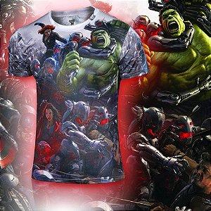 Camiseta Masculina Super-Heróis Modelo 08