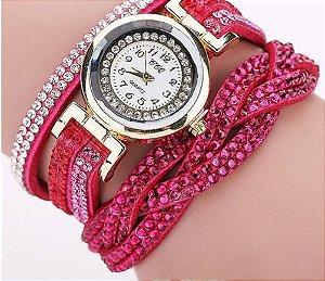 Relógio Feminino Luxo Strass