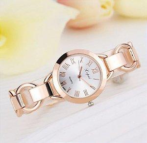 Relógio Feminino Rose Gold Modelo 01