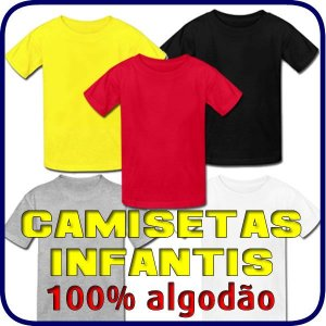 Camiseta Colorida Infantil Algodão 30.1 Penteado