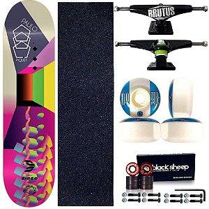Skate Profissional Completo Paulo Piquet Shape 8.0 Cisco Skate Color