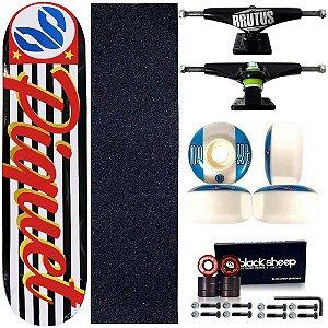 Skate Profissional Completo Paulo Piquet Shape 8.0 Cisco Skate SP