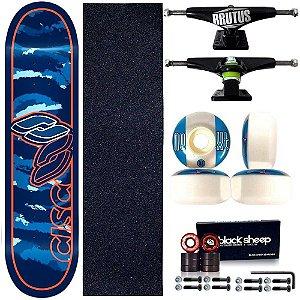 Skate Profissional Completo Paulo Piquet Shape 8.0 Cisco Skate Blue