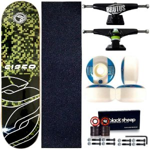 Skate Profissional Completo Paulo Piquet Shape 8.0 Cisco Skate Pixel