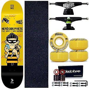Skate Profissional Completo Cisco Skate Herói dos Pivetes 8.0 v.2