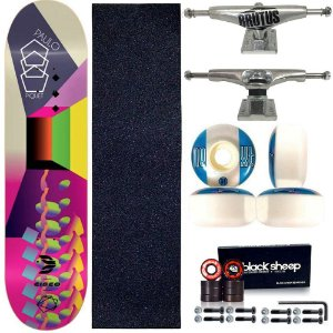 Skate Profissional Completo Paulo Piquet Shape 8.0 Cisco Skate Color Silver