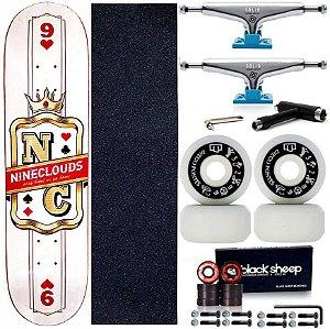 Skate Completo Maple Nineclouds 8.0 King + Roda Moska + Truck Intruder Blue