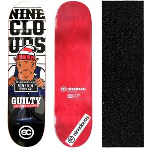 Shape Profissional Maple Skate Nineclouds Guilty 8.0 (Grátis Lixa Importada)