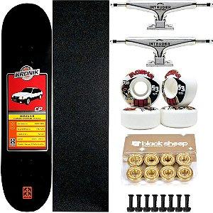 Skate Completo Maple Kronik 8.0 Monza + Roda Moska + Truck Intruder