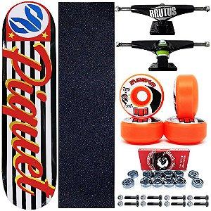 Skate Profissional Completo Paulo Piquet SP 8.0 Cisco Skate Roda Moska Orange