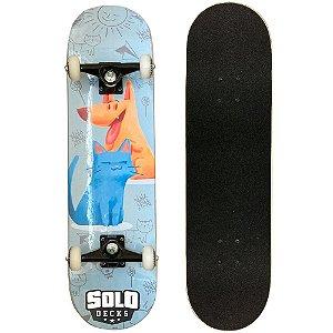 Skate Montado Solo Decks Semi Profissional 8.0 Pets