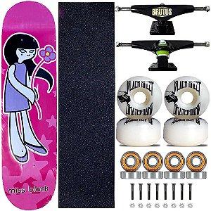 Skate Montado Miss Black Girl Profissional 8.0 Feminina
