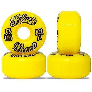 Roda Importada Black Sheep Wheels Yellow 53mm 102A ( jogo 4 rodas )