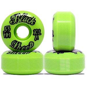 Roda Importada Black Sheep Wheels Green 53mm 102A ( jogo 4 rodas )