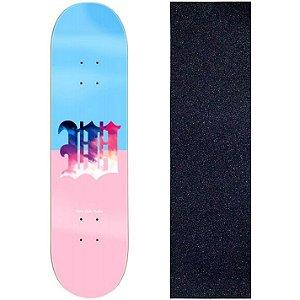 Shape de Skate Profissional Wood Light 8.0 Miss Pink Blue + Lixa de Brinde