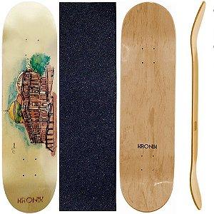 Shape de Skate Profissional 8.0 Kronik City Manaus + Lixa de Brinde