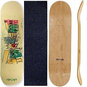Shape de Skate Profissional 8.125 Kronik City BHA + Lixa de Brinde