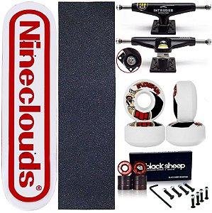 Skate Completo Maple Nineclouds 8.0 Game + Roda Moska + Truck Intruder Black