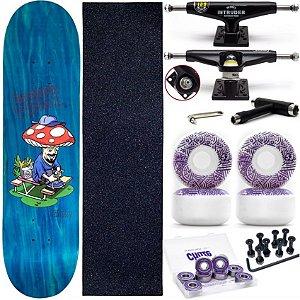 Skate Completo Maple Chaze Melow Patrick Vidal + Roda Chaze + Truck Intruder Black