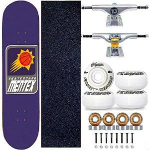 Skate Completo Profissional Shape Mentex 8.0 Basket Fire Truck City Line