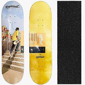 Shape Maple Profissional Represent Skate de Favela 8.0 (Grátis Lixa Importada)