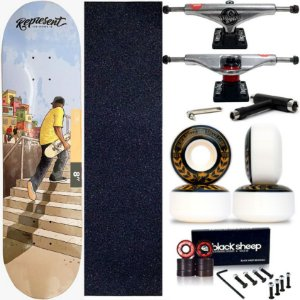 Skate Completo Maple Represent Pela Ruas 8.0 + Truck This Way