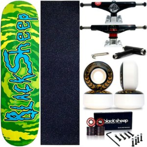 Skate Completo Maple Black Sheep Rick-Morty 8.0 + Truck This Way