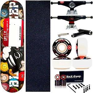 Skate Completo Maple Black Sheep ArtSpray 8.0 + Truck This Way