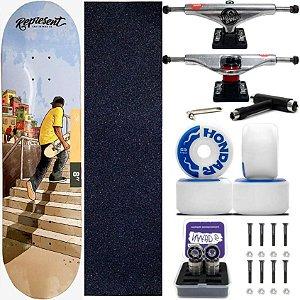 Skate Completo Maple Represent a Favela 8.0 + Rodas Hondar