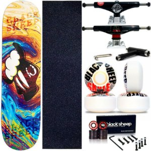 Skate Completo Maple Black Sheep Colors 8.0 + Truck This Way + Roda 53mm