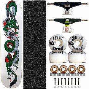 Skate Completo Black Sheep Profissional Dragon Truck Stick Skate Black
