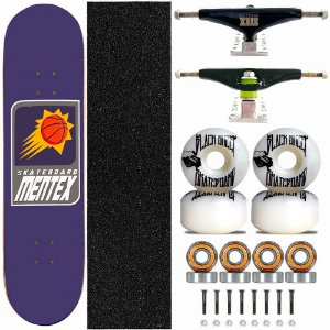 Skate Completo Profissional Shape Mentex 8.0 Basket Fire Truck Stick Skate Black
