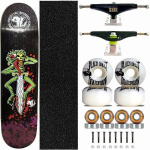 Skate Completo Profissional Shape Perfect Line 8.0 Monster Truck Stick Skate Black