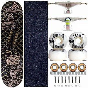 Skate Completo Black Sheep Profissional Maquina de Tattoo Truck Stick Skate
