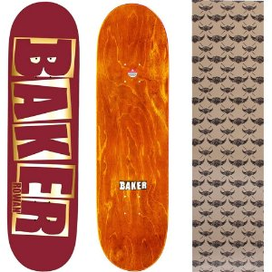 Shape Maple Importado Baker Brand 8.0 Foil Rowan Red (Grátis lixa Jessup)