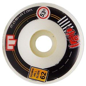 Roda Moska Downhill Slide 62mm 53D ( jogo 4 rodas )