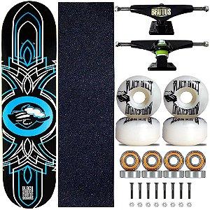 Skate Montado Black Sheep Profissional Mira Azul