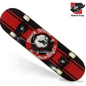 Skate Montado Black Sheep Semi-profissional Ovelha Radical