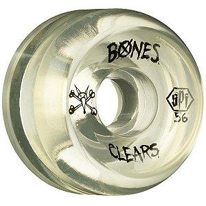 Roda Bones SPF Clears 56mm  (com 4 rodas)
