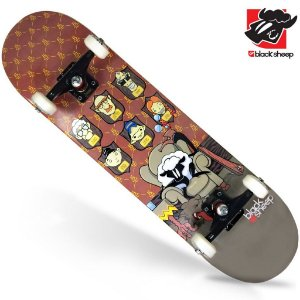 Skate Montado Black Sheep Iniciante Quadros