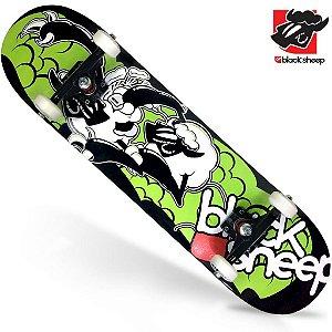 Skate Montado Black Sheep Profissional Black Green