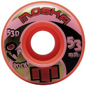 Roda Moska Rock 53mm 53d Laranja ( jogo 4 rodas )