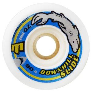 Roda Moska Downhill Slide 70mm 90a Branca ( jogo 4 rodas )