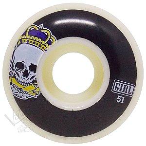 Roda Girl Skateboard Caveira 51mm ( jogo 4 rodas )