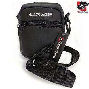 Shoulder Bag Black Sheep Preta Emborrachada (Impermeável)