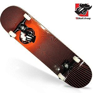 Skate Montado Black Sheep Profissional Logo em Chamas
